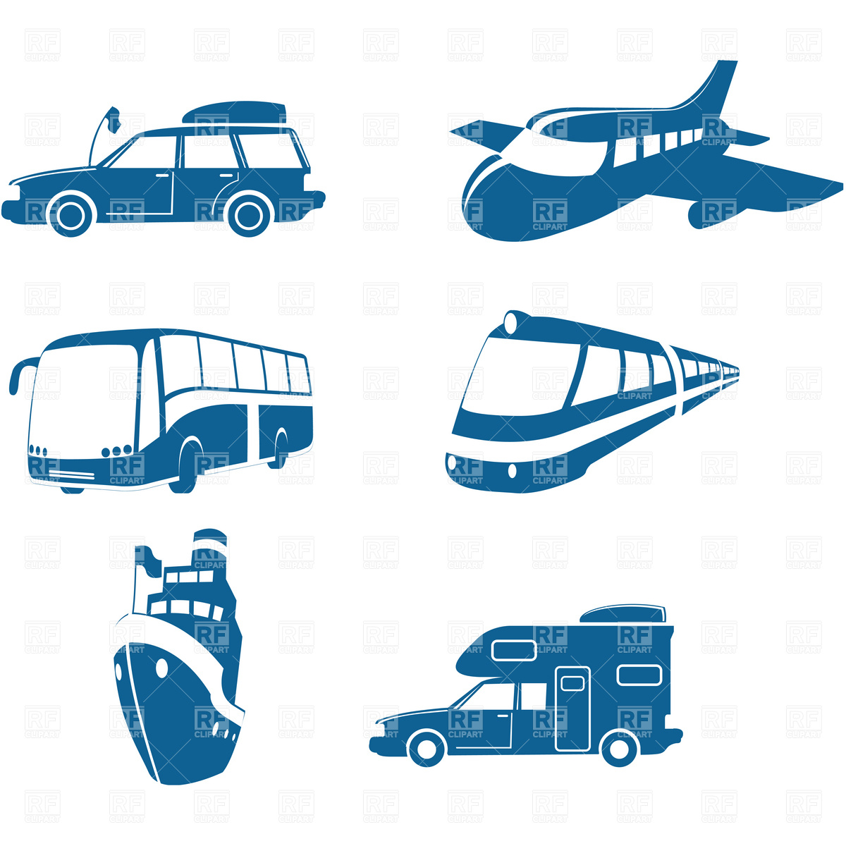 1200x1200 Transport And Travel Icons, Vehicles Vector Image Vector Artwork