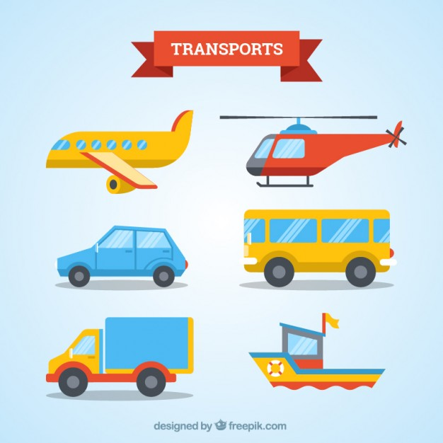 626x626 Transport Collection Flat Design Vector Free Download