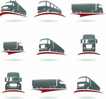 340x317 Transport Logo Illustration Vector 02 Free Download