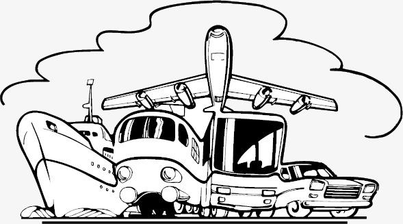 589x327 All Kinds Of Transport Sketch, Sketch Vector, Sketch