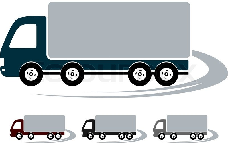 800x503 Transport Set Of Signs With Colorful Truck Image Stock Vector