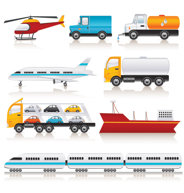 600x629 Vector Transport Vehicle Icons Free Vector 4vector
