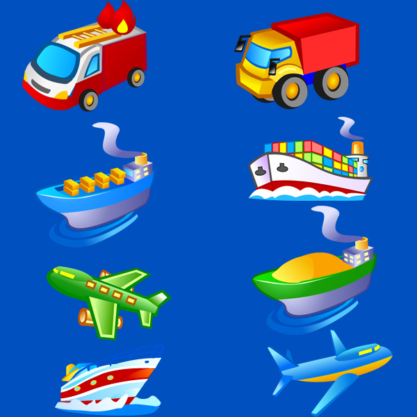 600x600 Free Transport Vector Icons Pack