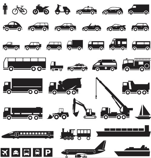 501x525 Icons With Transport Vector Ai Format Free Vector Download