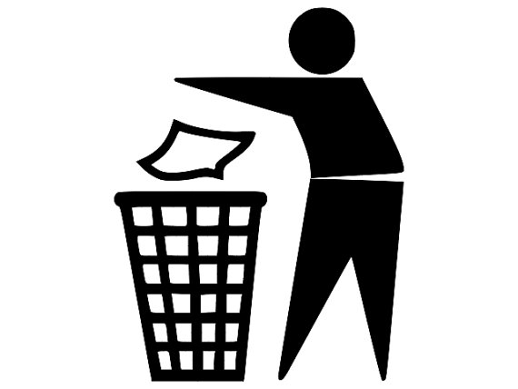 570x428 Trash Can Sign Desktop Backgrounds