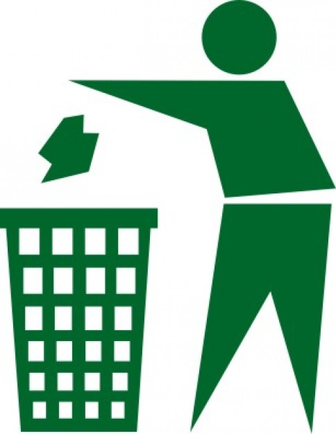484x626 Promote Single Trash Vector Material