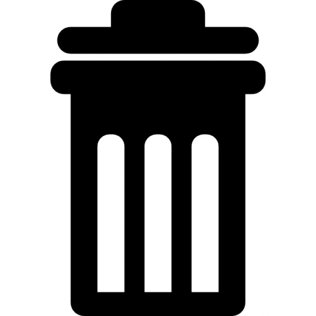 626x626 Trash Can With Cover Icons Free Download