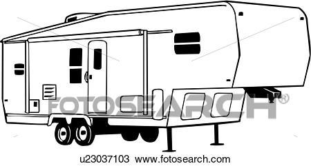 450x241 Camper Clipart Vector ~ Frames ~ Illustrations ~ Hd Images ~ Photo