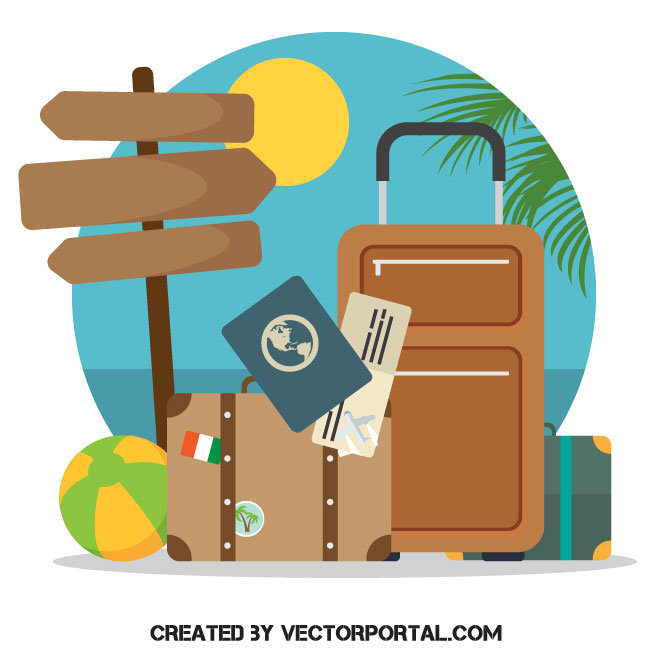 660x660 Ready To Travel Vector Concept