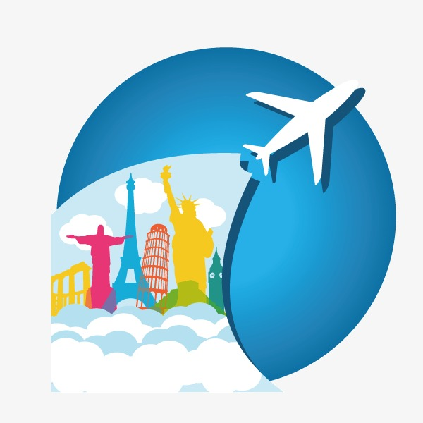 600x600 Travel,flat,aircraft,world Travel,vector, Travel, Flat, Aircraft