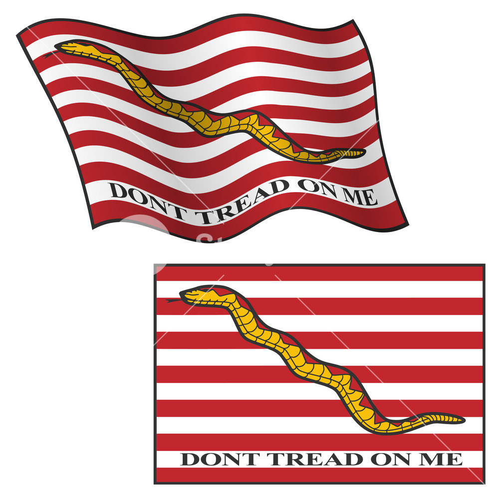 1000x1000 Dont Tread On Me Flag, Waving And Flat, Vector Graphic