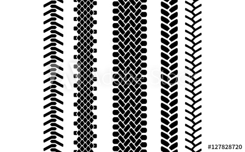 500x311 Black And White Tire Tread Protector Track Seamless Pattern