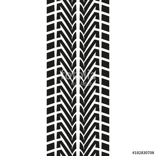 500x500 Tire Tread Or Track Isolated On White Background. Tyre Print