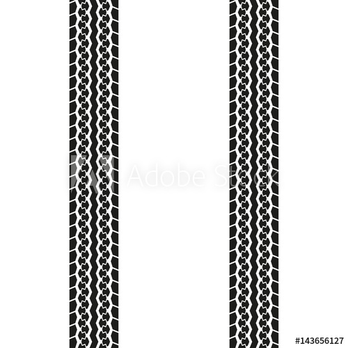 500x500 Tire Tread Or Tracks Isolated On White Background. Tyre Print
