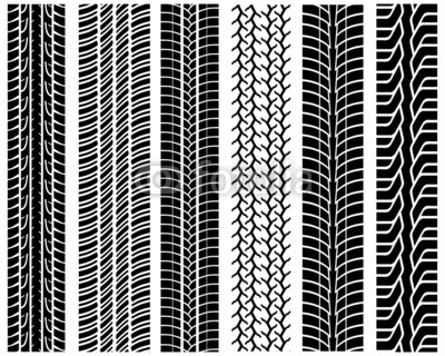 400x320 Black Prints Of Tread Of Cars, Vector Illustration Buy Photos