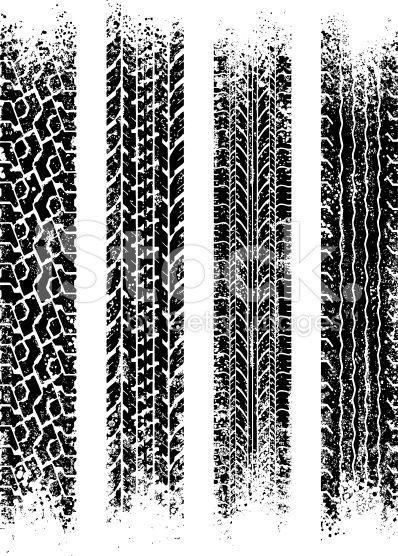 398x556 Gritty Black And White Tire Treads Vector Art, Free
