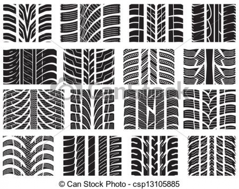 820x648 Tire Tread Patterns Clipart Image