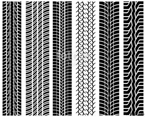 500x400 Black Prints Of Tread Of Cars, Vector Illustration Stock Image