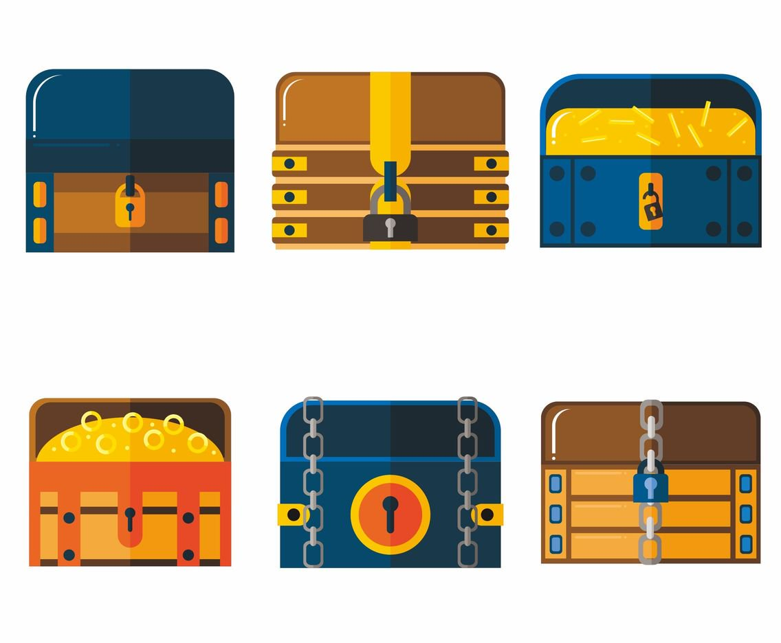 1136x936 Kinds Of Treasure Chest Vectors Vector Art Amp Graphics