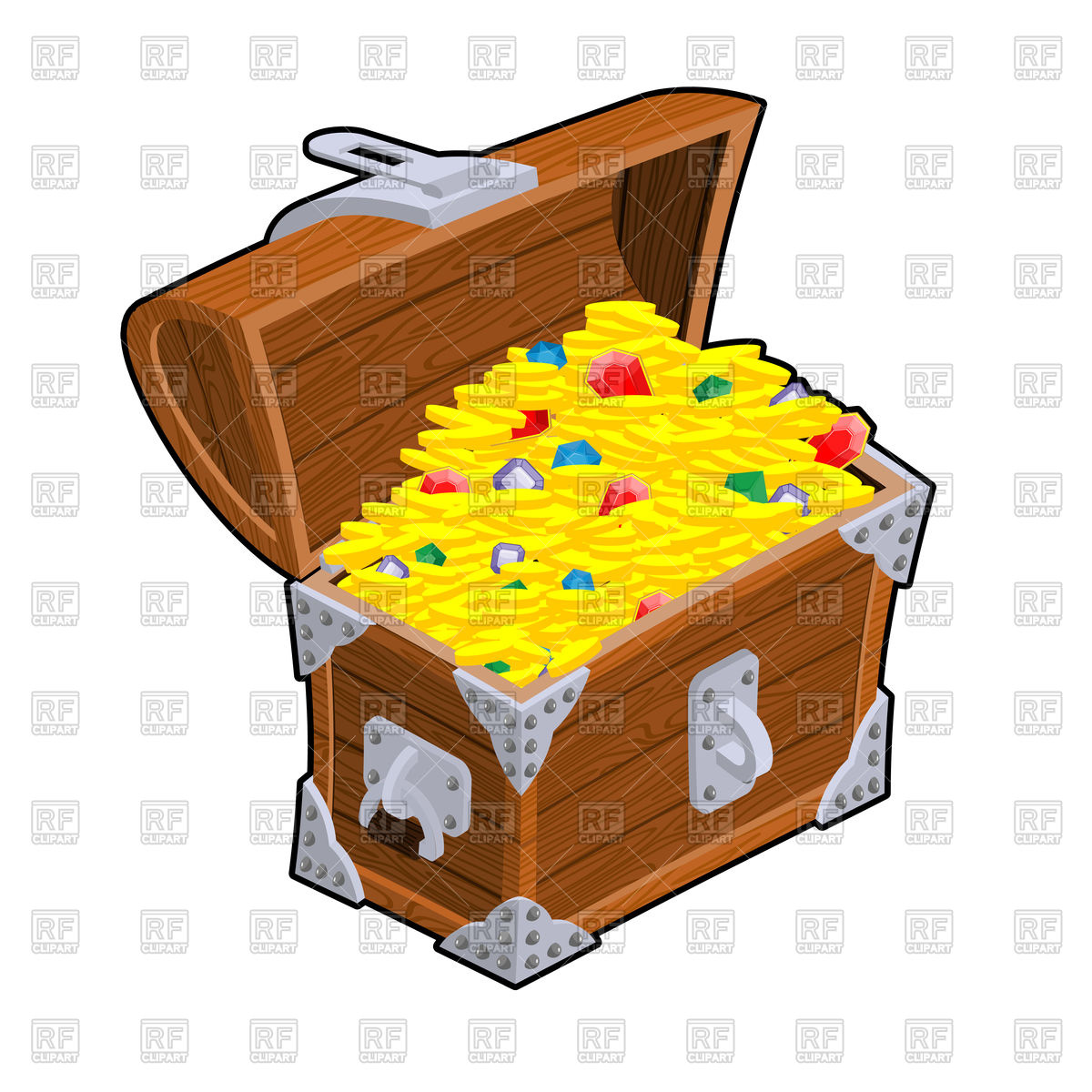 1200x1200 Open Treasure Chest Vector Image Vector Artwork Of Signs