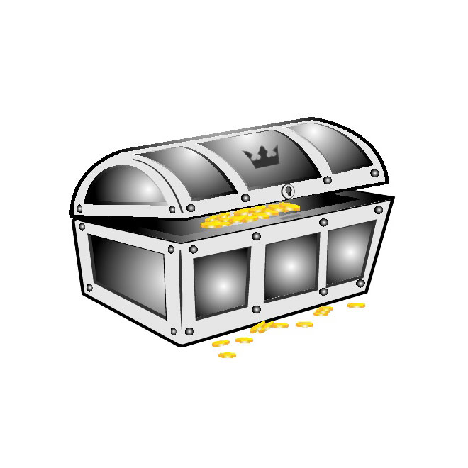 660x660 Treasure Chest Vector Clip Art