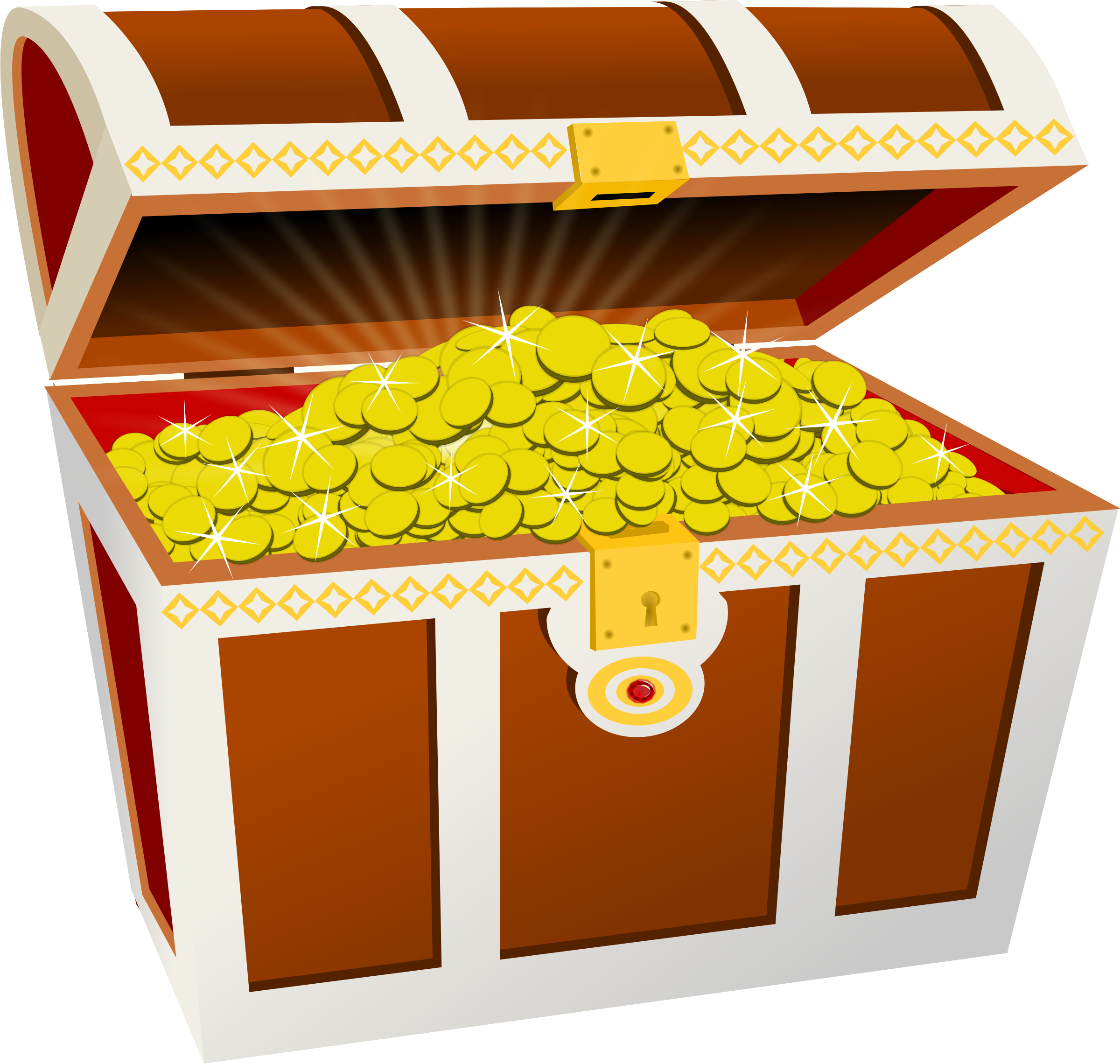 2400x2280 Treasure Chest Vector Art Image