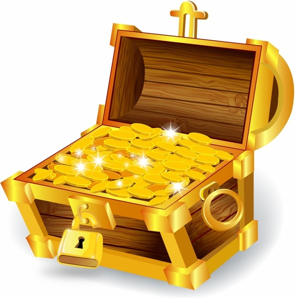 594x600 Treasure Chest Free Vector In Adobe Illustrator Ai ( .ai
