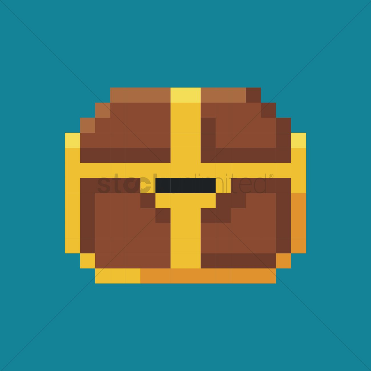 1300x1300 Treasure Chest Vector Image