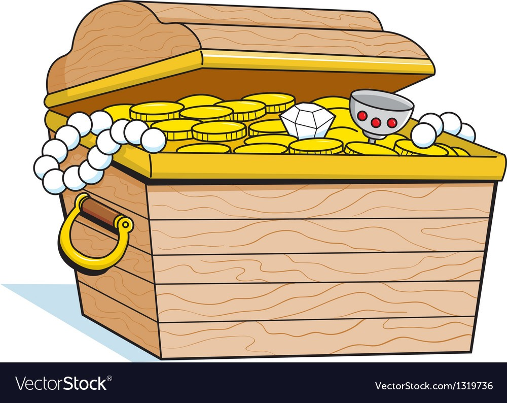 1000x794 Cartoon Treasure Chest Vector 1319736 0