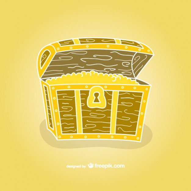 626x626 Treasure Chest Hand Drawn Vector Vector Free Download