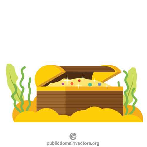 500x500 Treasure Chest Vector Illustration Public Domain Vectors