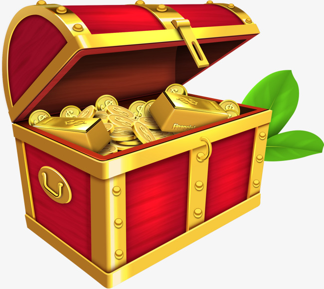 650x580 Vector Red Treasure Chest Of Gold Coins And Bullion, Gold Bullion