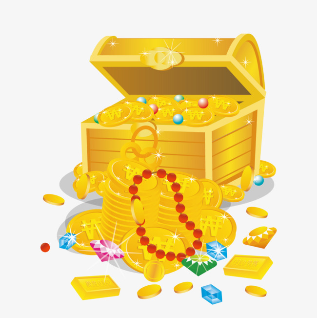 650x651 Vector Treasure Chest, Gold, Jewelry, Diamond Png And Vector For