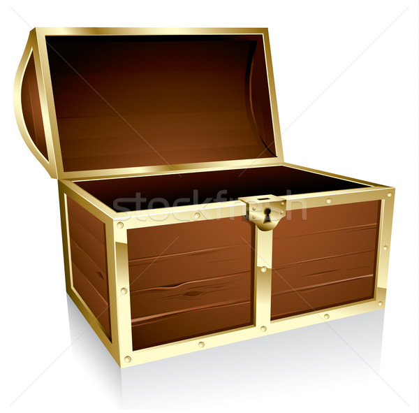 600x591 Empty Treasure Chest Vector Illustration Thomas Amby Johansen