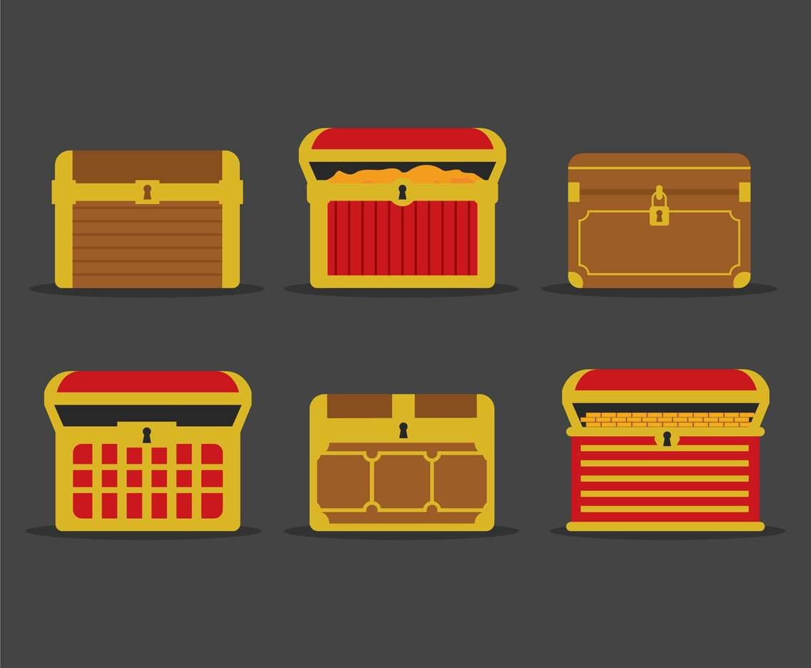1136x936 Flat Treasure Chest Illustration Vectors Vector Art Amp Graphics