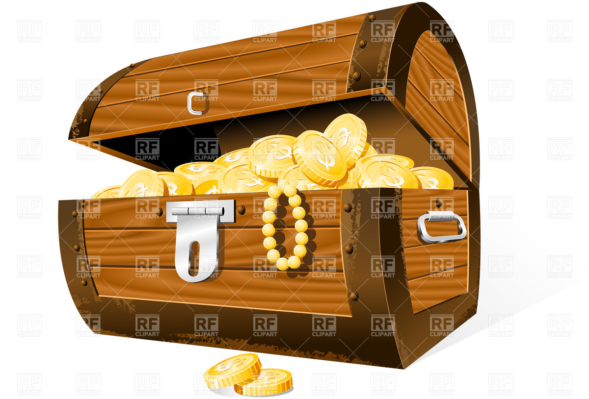 1200x814 Opened Treasure Chest Vector Image Vector Artwork Of Objects