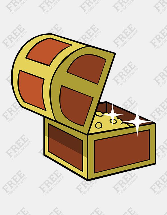 585x755 Free Graphic] Open Treasure Chest