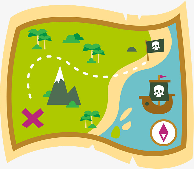 650x567 Cartoon Treasure Map, Vector Material, Map, Treasure Map Png And