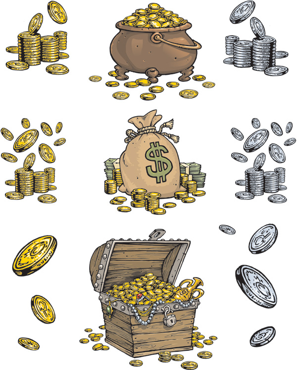600x748 Pirate Treasure Series Vector Free Vector 4vector
