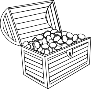 298x291 Treasure Chest Clip Art
