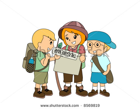 450x352 Children Hunting Treasure Vector 8569819 Shutterstock Clipart