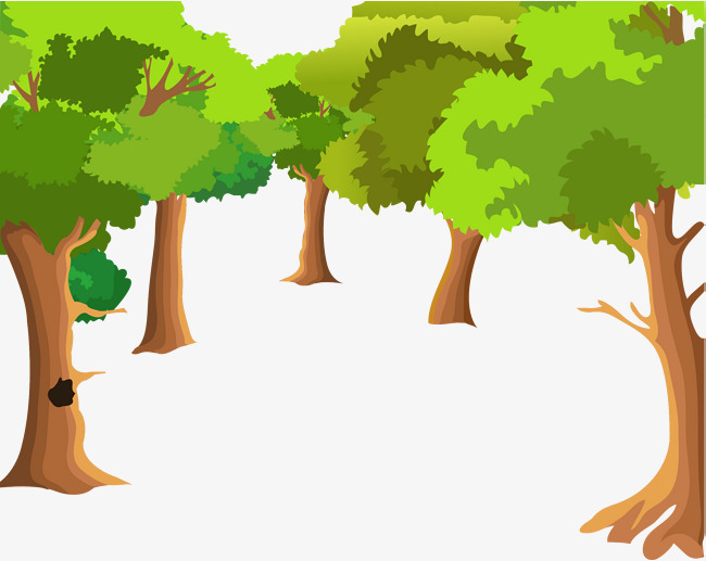 650x517 Cartoon Forest Tree Background Vector, Cartoon Vector, Forest