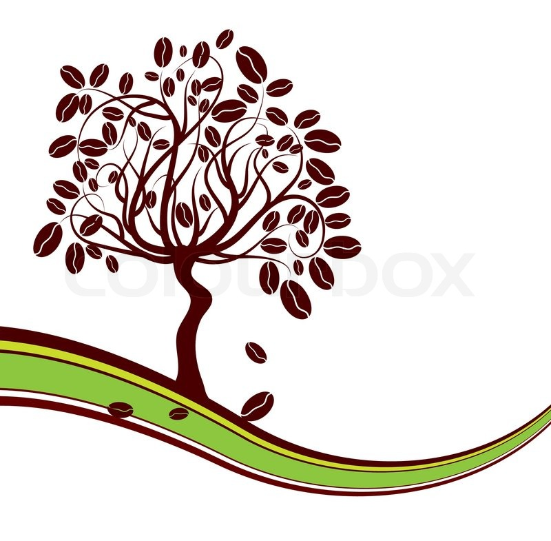 800x785 Coffee Tree Background, Vector Illustration Stock Vector Colourbox