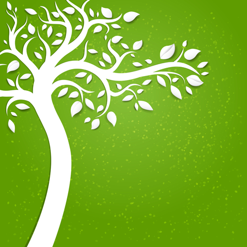 500x500 Eco Natural Style Tree Backgrounds Vector 01 Free Download