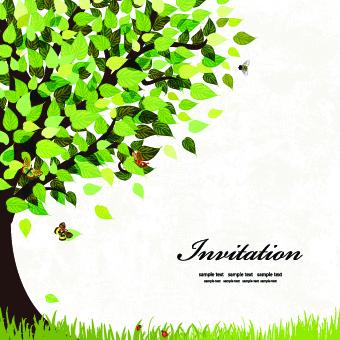 340x340 Elegant Tree Background Vector Free Vector In Adobe Illustrator Ai