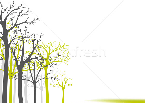 600x424 Abstract Trees Background Vector Illustration Roman Dekan