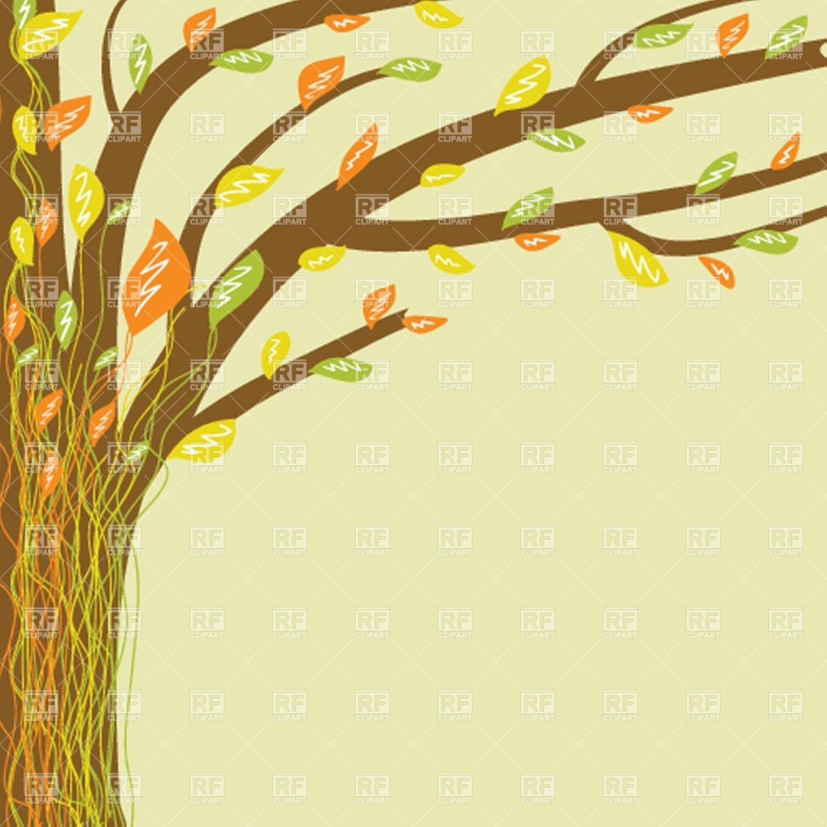 1200x1200 Abstract Tree Background Vector Image Vector Artwork Of