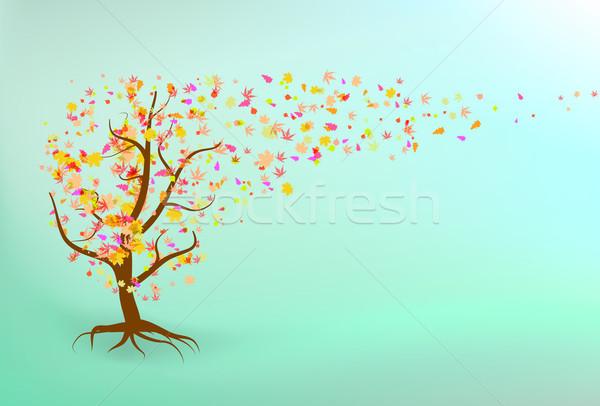 600x406 Autumn Tree Background. Vector Illustration Vladimir Petrov