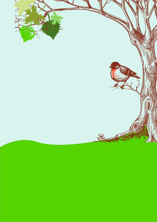 656x928 Bird On Tree Background Vector Vector Art Amp Graphics