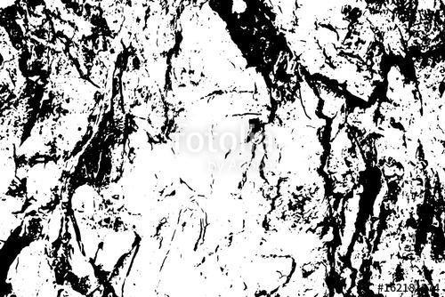 500x334 Cracked Tree Bark Vector Texture. Black And White Bark Ornament